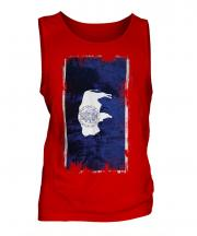 Wyoming State Grunge Flag Mens Vest