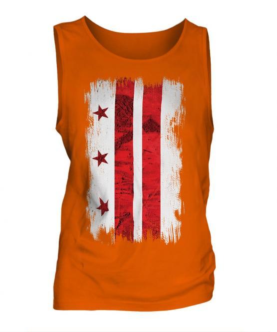 Washington Dc Grunge Flag Mens Vest