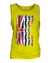 British Columbia Grunge Flag Mens Vest