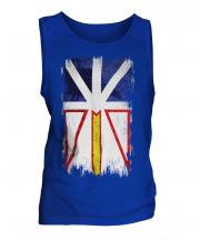 Newfoundland And Labrador Grunge Flag Mens Vest