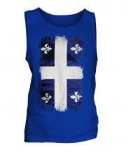 Quebec Grunge Flag Mens Vest