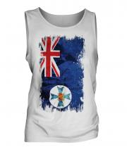 Queensland Grunge Flag Mens Vest