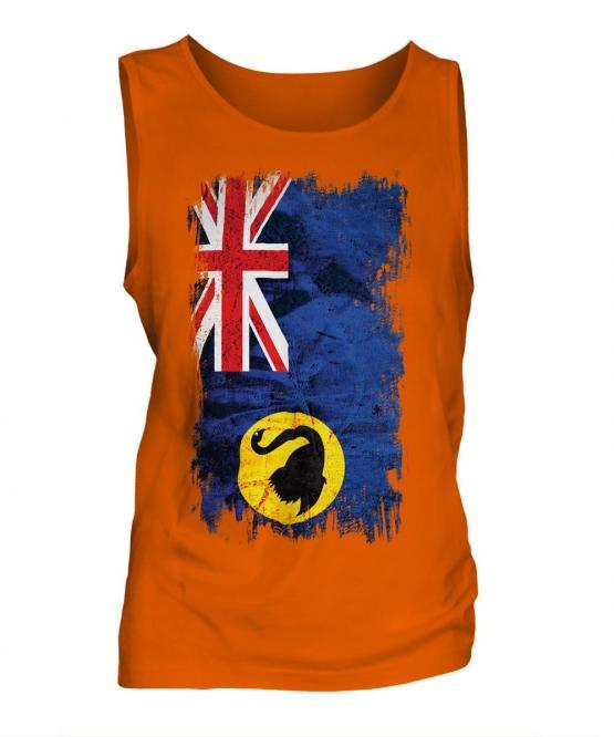 Western Australia Grunge Flag Mens Vest