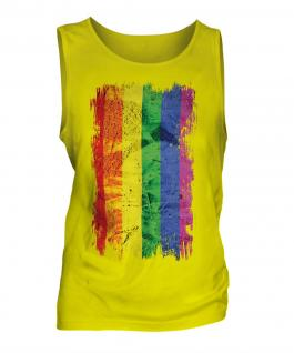 Gay Pride Grunge Flag Mens Vest