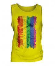 Gay Pride Grunge Flag Mens Vest
