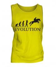 Horse Racing Steeplechase Evolution Mens Vest