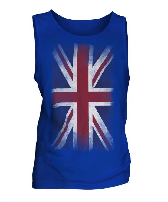 Union Jack Faded Flag Mens Vest