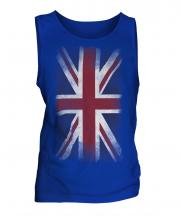 Union Jack Faded Flag Mens Vest