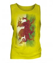 Wales Faded Flag Mens Vest