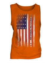 Bikini Atoll Faded Flag Mens Vest