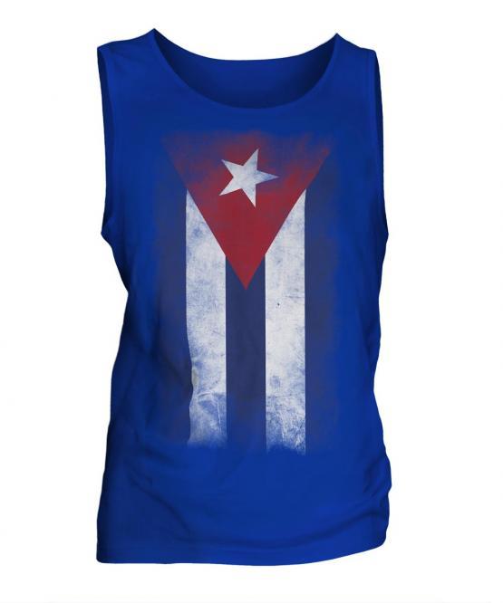 Cuba Faded Flag Mens Vest