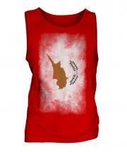 Cyprus Faded Flag Mens Vest