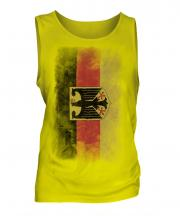 Germany State Faded Flag Mens Vest