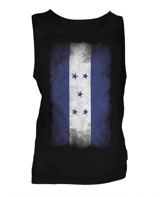 Honduras Faded Flag Mens Vest