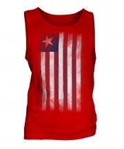 Liberia Faded Flag Mens Vest