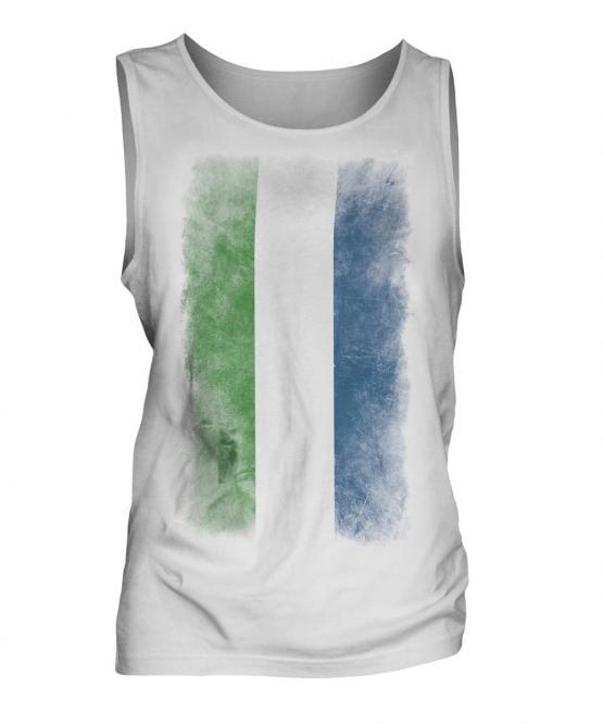 Sierra Leone Faded Flag Mens Vest