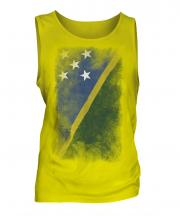 Solomon Islands Faded Flag Mens Vest