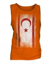 Turkish Republic Of Northern Cyprus Faded Flag Mens Vest