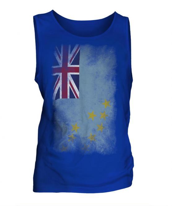 Tuvalu Faded Flag Mens Vest