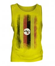 Uganda Faded Flag Mens Vest