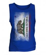 California State Faded Flag Mens Vest