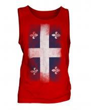 Quebec Faded Flag Mens Vest