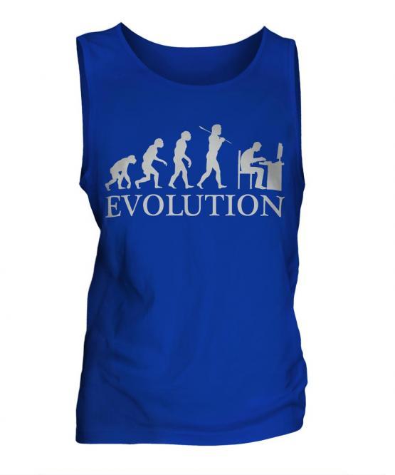 Computer Geek Evolution Mens Vest