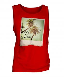 I Love Summer Mens Vest