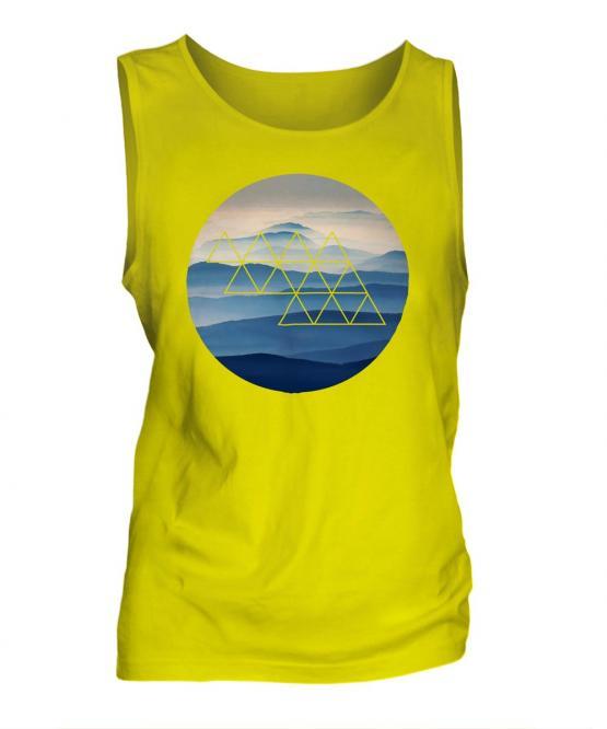 Foggy Mountains Fashion Print Mens Vest