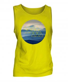 Foggy Mountains Fashion Print Mens Vest
