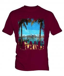 Miami Grunge Print Mens T-Shirt
