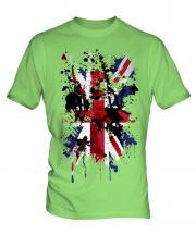 Union Jack Abstract Print Mens T-Shirt
