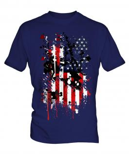 Stars And Stripes Abstract Print Mens T-Shirt