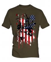 Stars And Stripes Abstract Print Mens T-Shirt