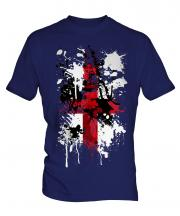 England St. George Cross Abstract Print Mens T-Shirt