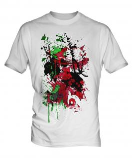 Wales Flag Abstract Print Mens T-Shirt
