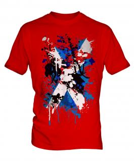 Scotland Flag Abstract Print Mens T-Shirt