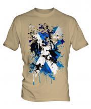 Scotland Flag Abstract Print Mens T-Shirt
