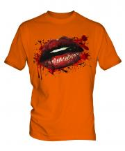 Grunge Lips Mens T-Shirt