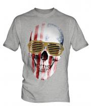 Stars And Stripes Skull Mens T-Shirt