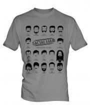 Facial Hair Through The Ages Mens T-Shirt