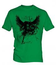 Grunge Guitar Tattoo Mens T-Shirt