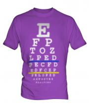 Blurred Eye Test Chart Mens T-Shirt