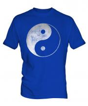 Yin Yang Distressed Print Mens T-Shirt