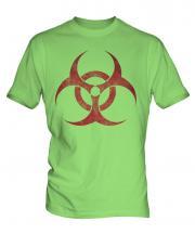 Radioactive Distressed Print Mens T-Shirt