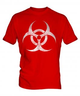 Radioactive Distressed Print Mens T-Shirt