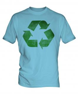 Recycle Distressed Print Mens T-Shirt