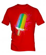 Gay Pride Ice Lolly Mens T-Shirt