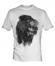 Roaring Lion Sketch Mens T-Shirt