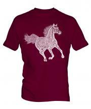 Galloping Horse Sketch Mens T-Shirt